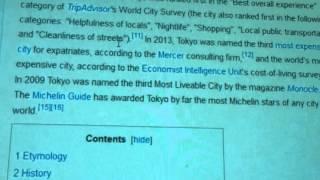 Tokyo wiki part 1