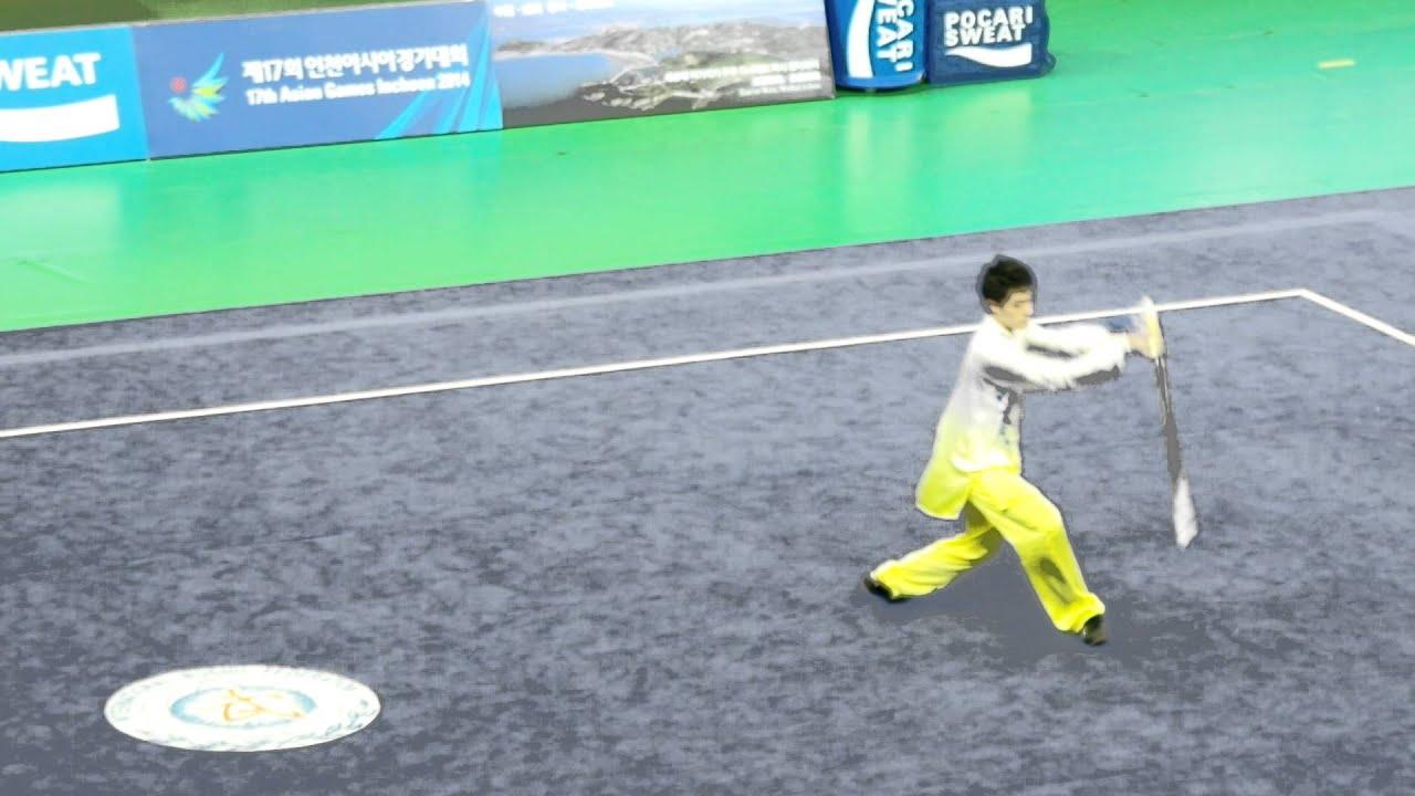 第十七屇亞洲運動會新加坡Samuel Tan Wei Han 太極劍