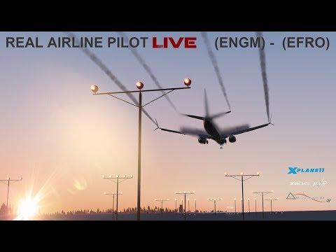 Real Airline Pilot LIVE (ZIBO MOD 737) Oslo - Lapland   FLY AND SEE SANTA   VATSIM SCANDINAVIA 2018