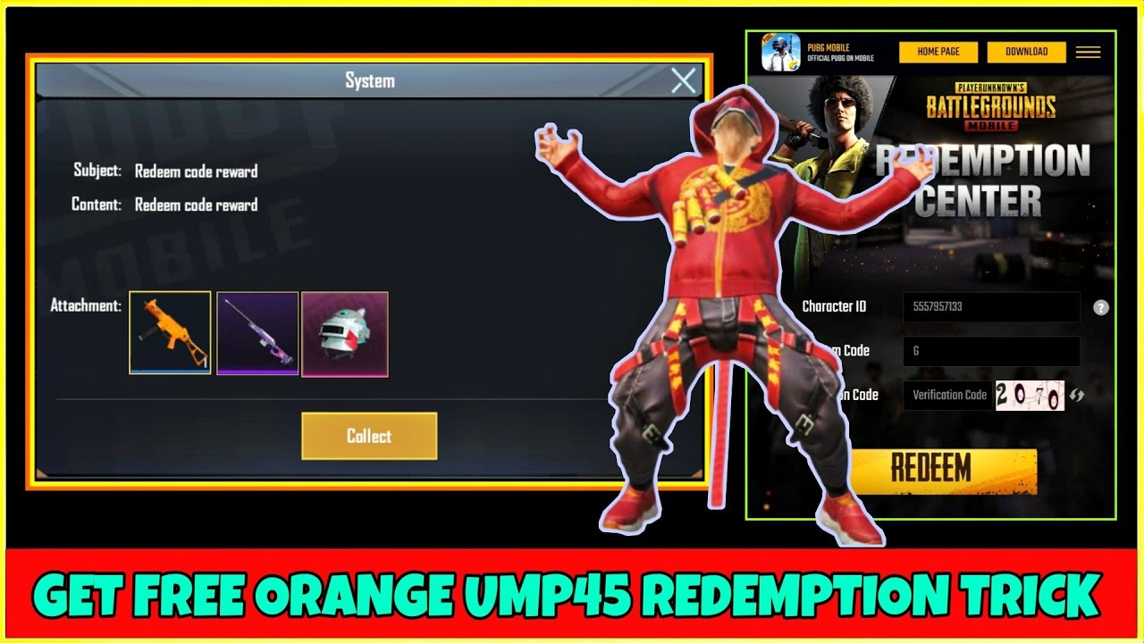 Pubg New redeem code To Get Free Orange Ump Skin & Free ...