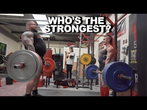 Worlds Strongest Man .VS. Worlds Strongest Women!