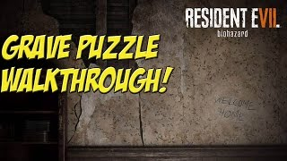 Resident Evil VII! Grave Puzzle Walkthrough - YoVideogames