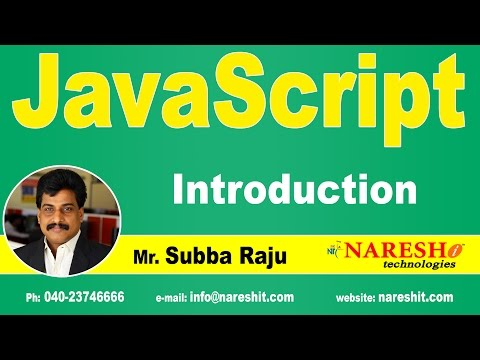 Introduction To JavaScript | JavaScript Tutorial | Mr. Subba Raju