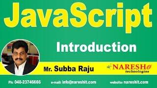 Introduction to JavaScript | JavaScript Tutorial | Mr. Subba Raju