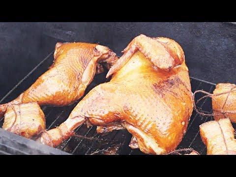 Как закоптить цыпленка в коптильне горячего копчения