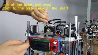 step 7 assembling the extruder 3ku easy delta printer