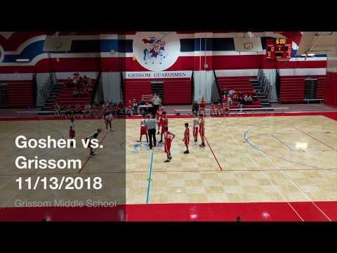 Goshen Middle School vs. Grissom Middle School 7th Grade Basketball Game 11/13/2018
