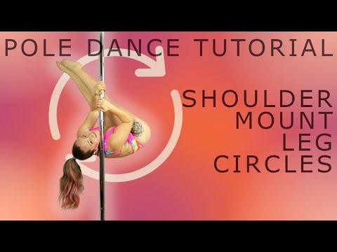 Spinning Shoulder Mount Leg Circles | Pole Dance Tutorial thumbnail