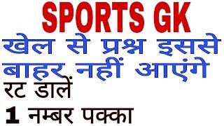 Sports GK, खेल सामान्य ज्ञान, Important sports gk, shikshak bharti,