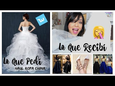 Ropa China Wish: Trajes de Novia 😱 y Vestidos de Noche | Prom Dresses | Wish App Wedding Dresses