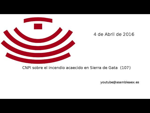CNPI sobre el incendio acaecido en Sierra de Gata (107), 04-04-16