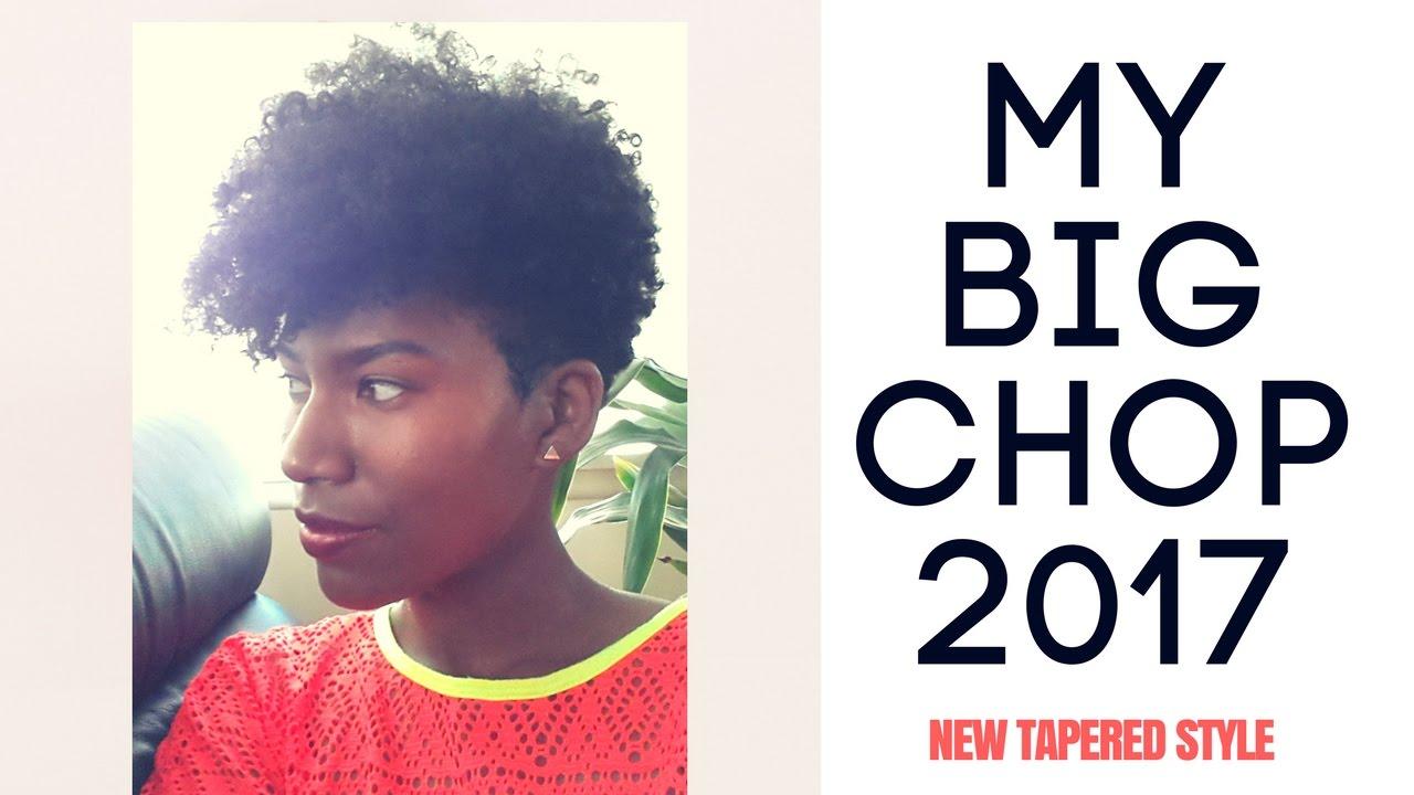Tapered Natural Hair Cut My Big Chop 2017 Kashtv Youtube