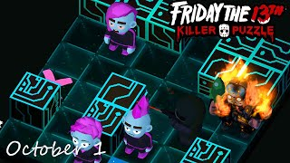 Friday the 13th Killer Puzzle Daily Death October 1 2020 Walkthrough