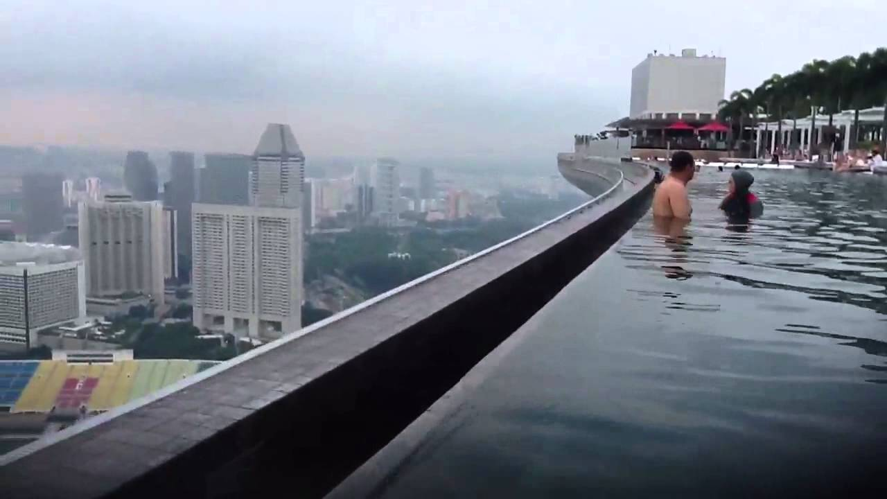 Marina bay sands infinity pool singapore - Top Of Singapore Pool Youtube