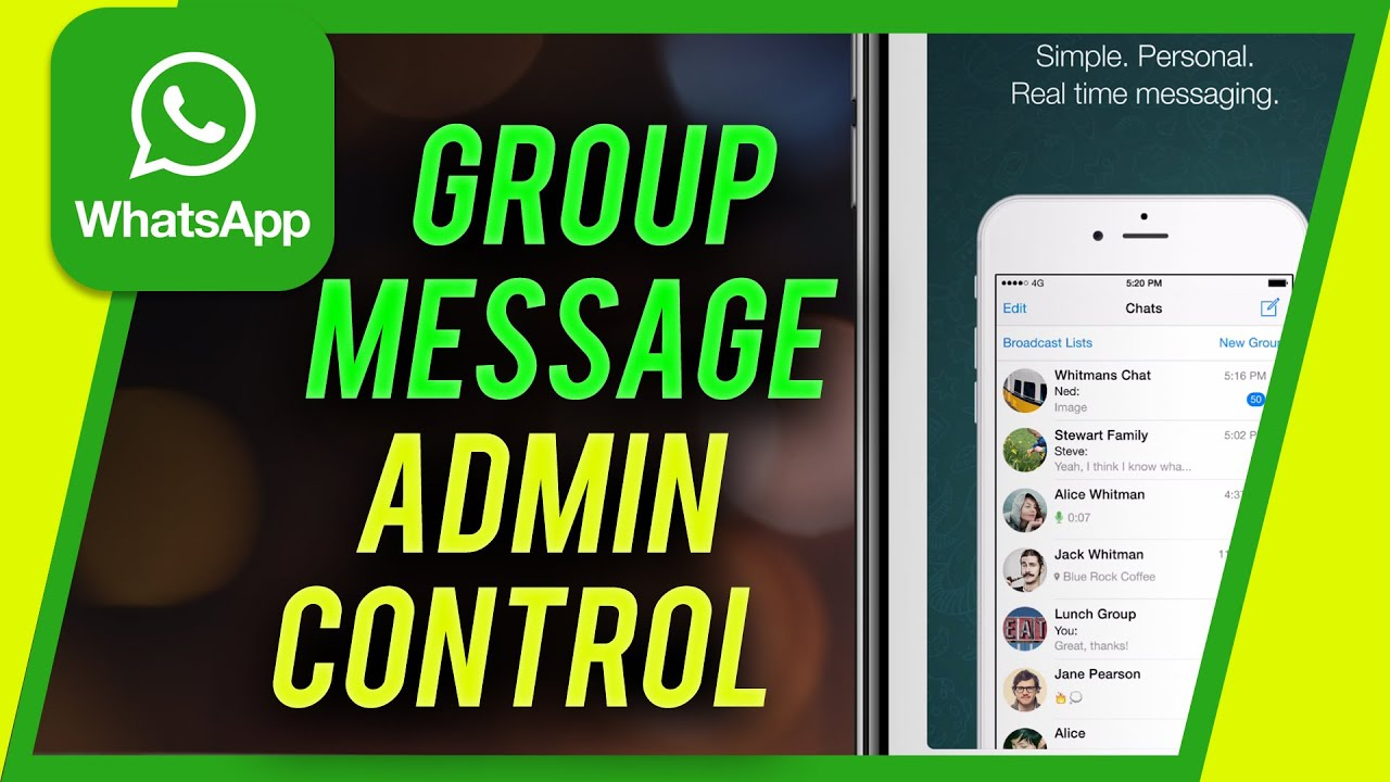 How to use Whatsapp send message for group admins - New WhatsApp Udpate