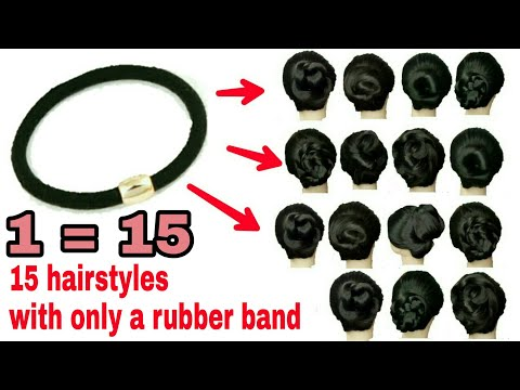 *15-new-tricky-hairstyle*-with-1-rubber-band-||-all-hairstyle-in-1-min-||-easy-hairstyle