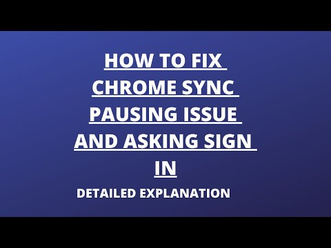 How To Fix Chrome Sync Pausing And Asking To Sign In | Chrome Sync Pausing Issue And Solution |