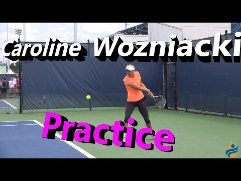 Caroline Wozniacki Practice Session (Cincinnati 2014)