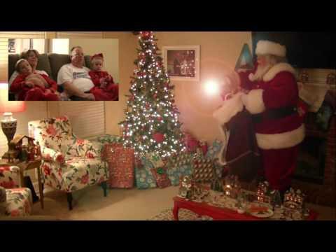 Watching SANTA CAM Footage on CHRISTMAS Morning!