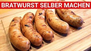♨️ GRILLBLITZ: Bratwurst selber machen - BBQ Rezept, Rostbratwurst vom Grill, Grillbratwurst