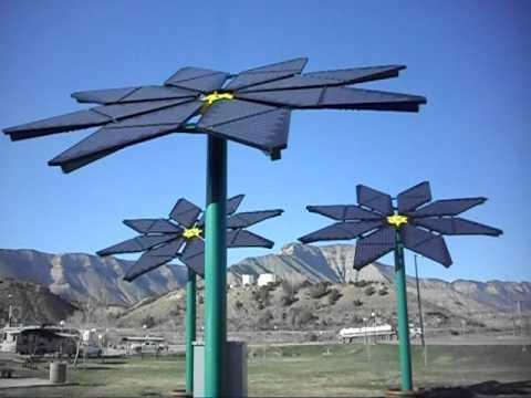 Solar Flowers at the Parachute, Colorado Rest Area
