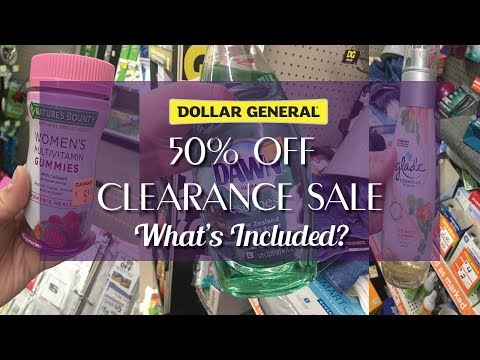Dollar General 50% Off Clearance Sale - Coupon Matchups - What's Included?