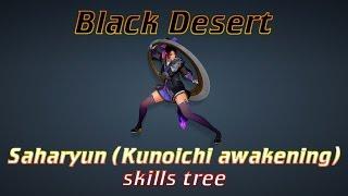 BDO - Saharyun (Kunoichi awakening) skills tree