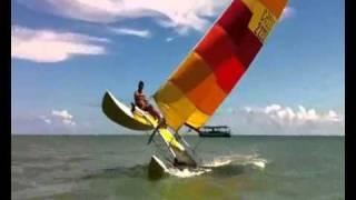 HOBIE CAT - SAILING -ARATUBA BEACH- BAHIA -SHOW !!