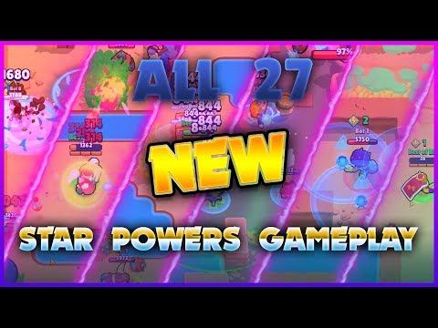 Brawl Stars ALL 27 NEW Star Powers GAMEPLAY