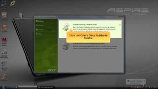 Acer eRecovery Management - Criar os Discos de Recuperação