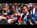Italian deputy PM and Infrastructure minister visit scene of Genoa bridge collapse