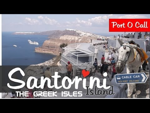 Santorini Greek Island Cruise High-Definition Video 1080p - Port Of Call