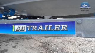 Обзор прицепа SB TRAILER с установленным катером TOHATSU TRIGGER 23 фута (7.1 м)