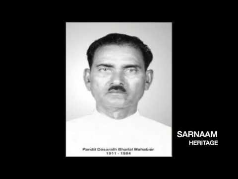 Very rare live recording of famous Pt. Bhailal Mahabier from Nickerie (Baithak Gana)