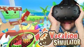 GRILLOWANIE NA PLAŻY czyli Symulator Wakacji - Vacation Simulator #1 (HTC VIVE VR)