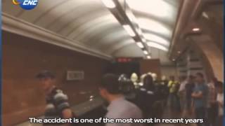 Moscow Metro Train Derails