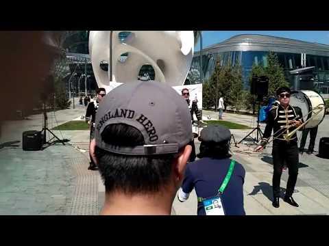 South Korea brass live band on Expo 2017 in Kazakhstan Astana - The Chiken jazz