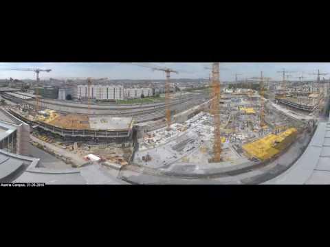 Baufortschritt AUSTRIA CAMPUS l Mai 2015 bis Februar 2017