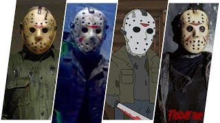 Jason Voorhees Evolution in Movies & Cartoons. (Friday the 13th)