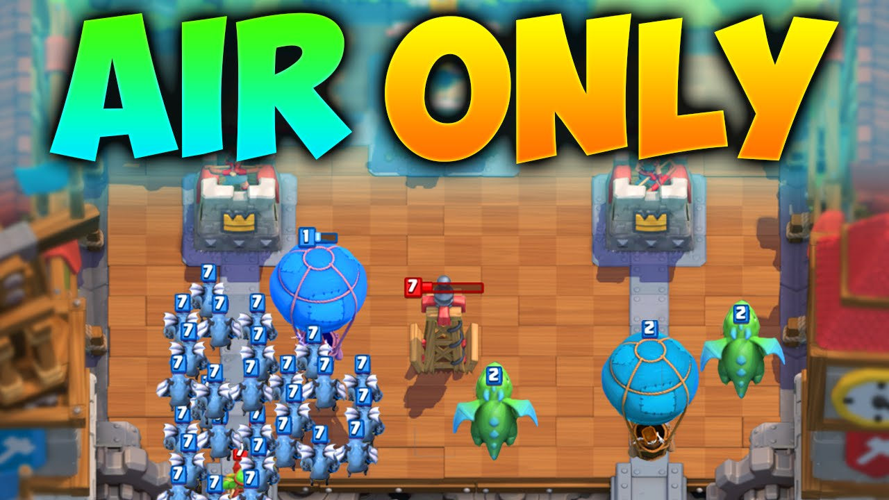 Clash royale balloon mirror deadly air troops only for Clash royale deck molosse