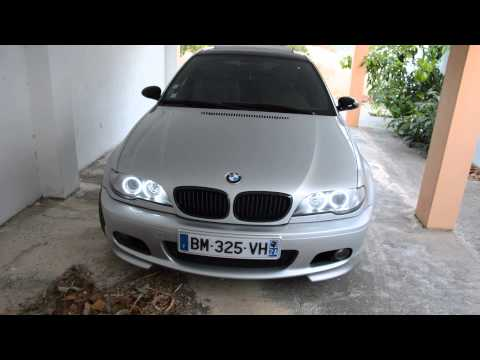 Angel eyes E46 330ci BMW open and close car  light