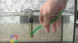 Самодельный аэрлифтный фильтр для аквариума # мальки / креветки #
