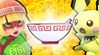 [SSBU] Min Min's Ramen Challenge   Who can reach the Ramen Bowl?