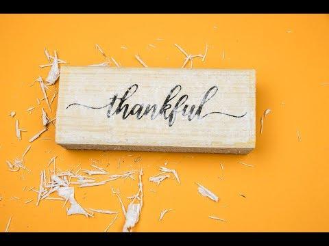 ThanksGiving 2018 |  DIY Image Transfer | Transfer Photo to Wood