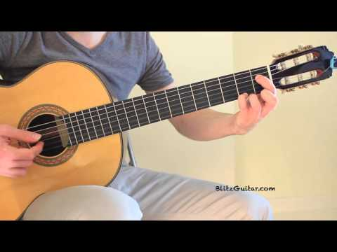 Lagrima Francisco Tarrega Classical Guitar Lesson with Tab
