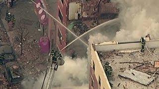 Massive building collapse in Manhattan