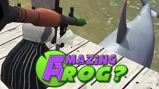 Amazing Frog - SHARKS VS ROCKET LAUNCHER - PC Gameplay Part 11