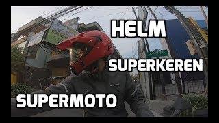 Riding bersama Helm Snail MX311 supermoto super keren