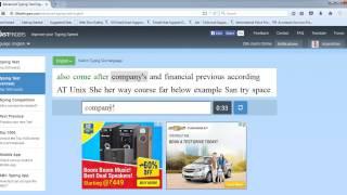 10FastFingers Advance Typing Speed Test - 67 WPM