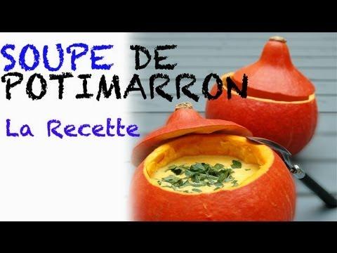 Recette halloween : soupe de potimarron